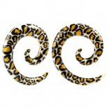2pc 2g Leopard Spiral Guages Ear Stretching Plugs For Ears Earrings Taper Spirals Curl Flesh Piercing Jewelry