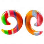 2pc 1/2 Rainbow Spiral Guages Ear Stretching Plugs For Ears Earrings Taper Spirals Curl Flesh Piercing Jewelry
