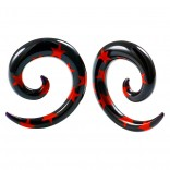 2pc 2g Star Spiral Guages Ear Stretching Plugs For Ears Earrings Taper Spirals Curl Flesh Piercing Jewelry