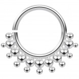 16g 316LVM Stainless Steel Annealed Nose Hoop 16 Gauge 5/16 8mm Earrings Septum Nostril Ring Piercing Jewelry - Steel