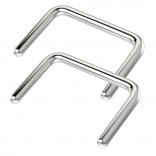 2pc 16g Surgical Stainless Steel Septum Retainer U Shaped Piercing Ring Staple-Shape Jewelry (10mm)