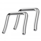 14g 8mm Septum Retainer Jewelry Nose Piercing Ring Retainers Rings Small Spacer Surgical Steel Staple Nostril Tapered