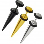3pc 2g Fake Gauges Earrings Taper Illusion Plugs Cheater Stud Anodized Surgical Steel Lobe O-Rings